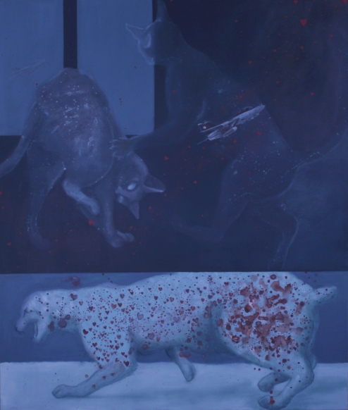 Figli delle stelle acrilico e olio su tela 2010 110x130 cm