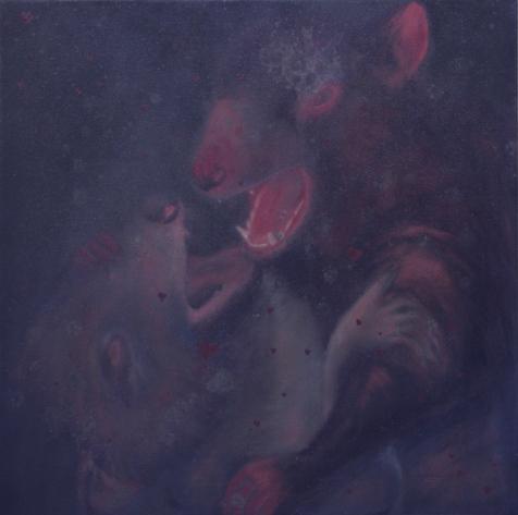 I Promessi Sposi acrilico e olio su tela 2010 60x60cm