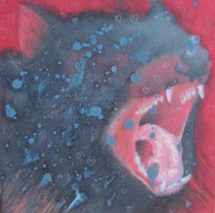 Sfuggirmi acrilico e olio su tela 2011 25x25cm