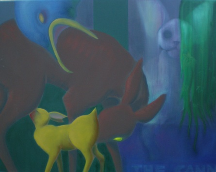 The cannibal acrilico e olio su tela 2009 90x70 cm
