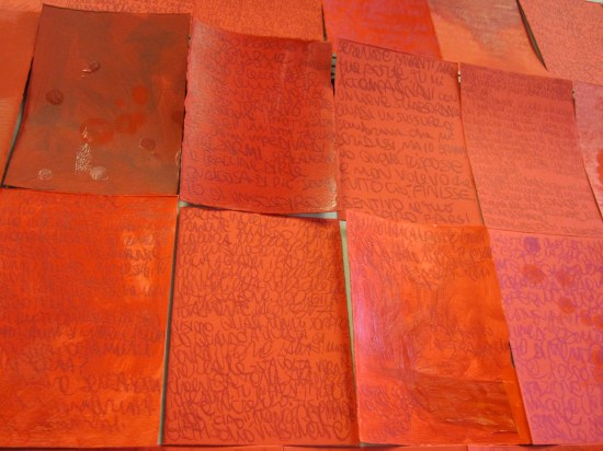 eros (detail) tecnica mista su carta 2012-2013 400 pezzi 12x17,5 cm cad.