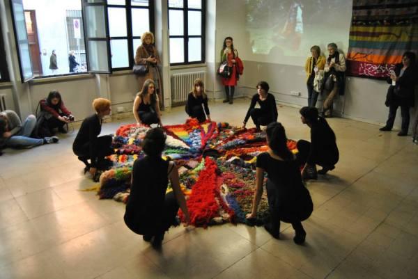 Pelle d'oca all'inaugurazione della Casa delle Donne, Milano 2014.